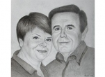 Personalised Portrait Drawing of Two People – Pencil Technique